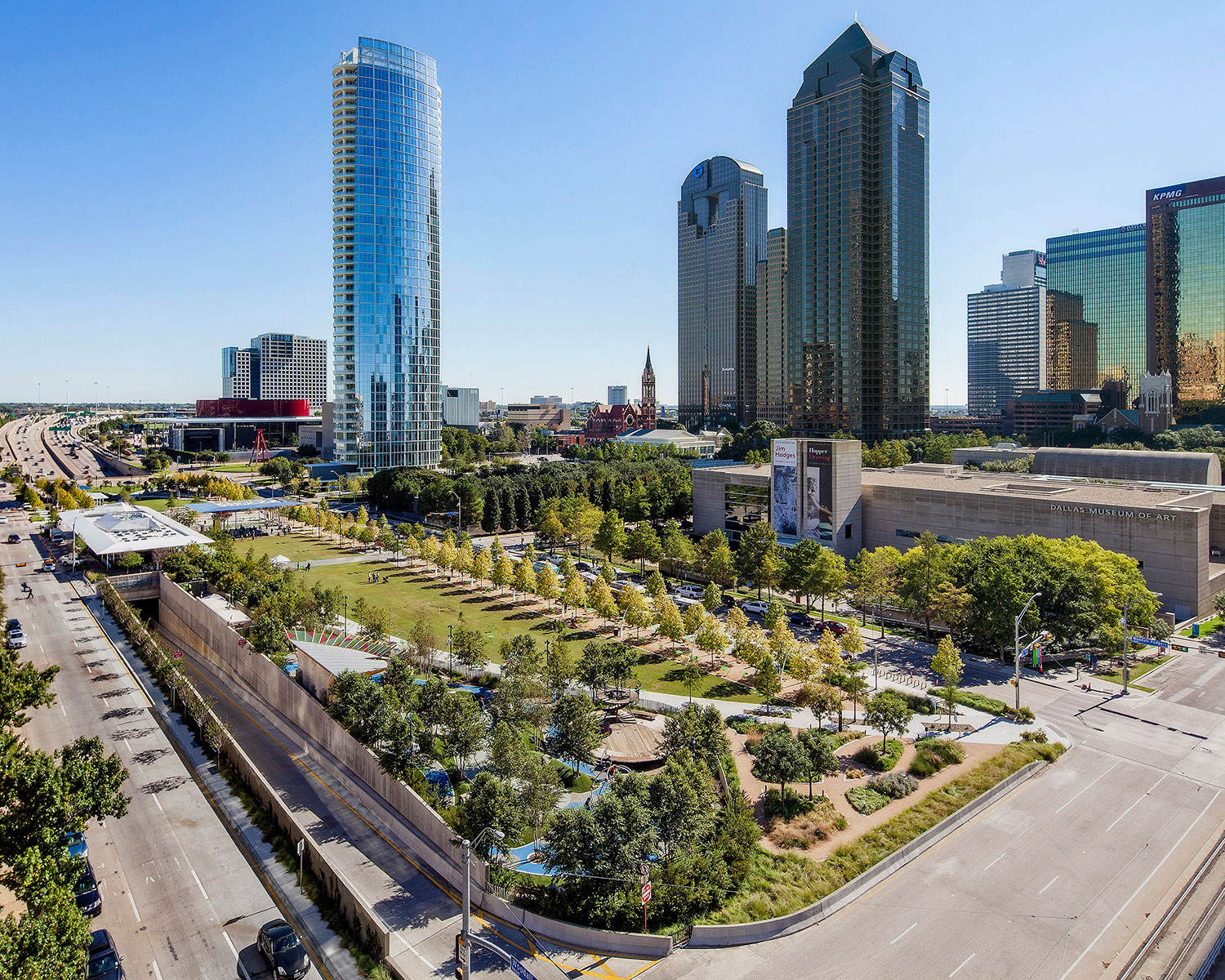 Image result for woodall rodgers freeway park